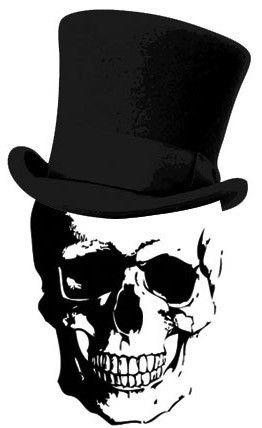 skull and top hat skully bone pinterest tattoo stenciling and skeletons. Black Bedroom Furniture Sets. Home Design Ideas