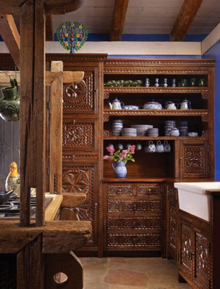 Carved Cabinet Custom Designed Cabinets Kitchen Cabinet