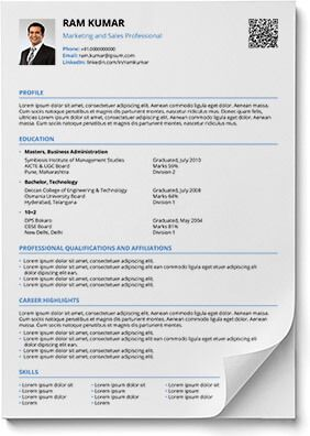 Resume Format In Word And Pdf  Shriresume  Download