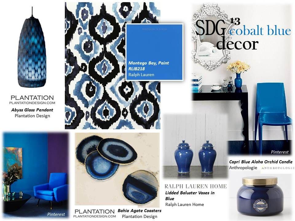 Sdg Cobalt Blue Decor