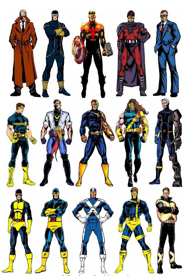 astonishingx Cyclops over the years (and alternate versions)