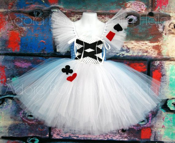 Alice in wonderland inspired tutu dress    Comes as shown, bodice is made with crochet waffle tops 6, half white in front & blue in back