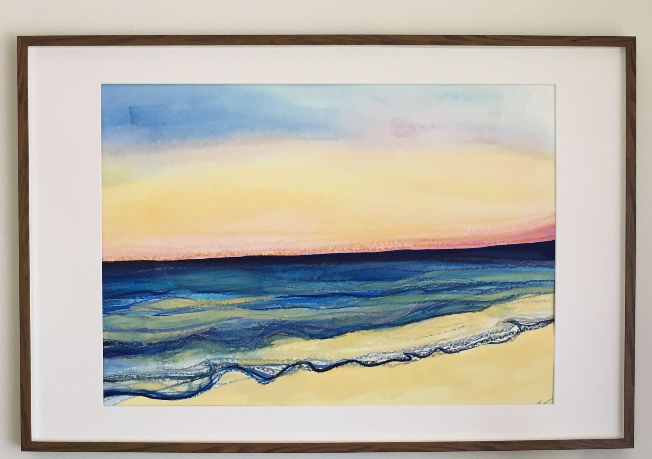 Sunset on The Gold Coast by Leah Gay |Original Painting Large ...
