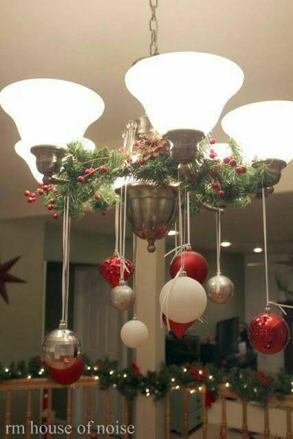 Ideas Para Decorar Lamparas De Techo En Navidad Dale Detalles Decoracion Navidena Manualidades Navidenas Decoracion Navidad