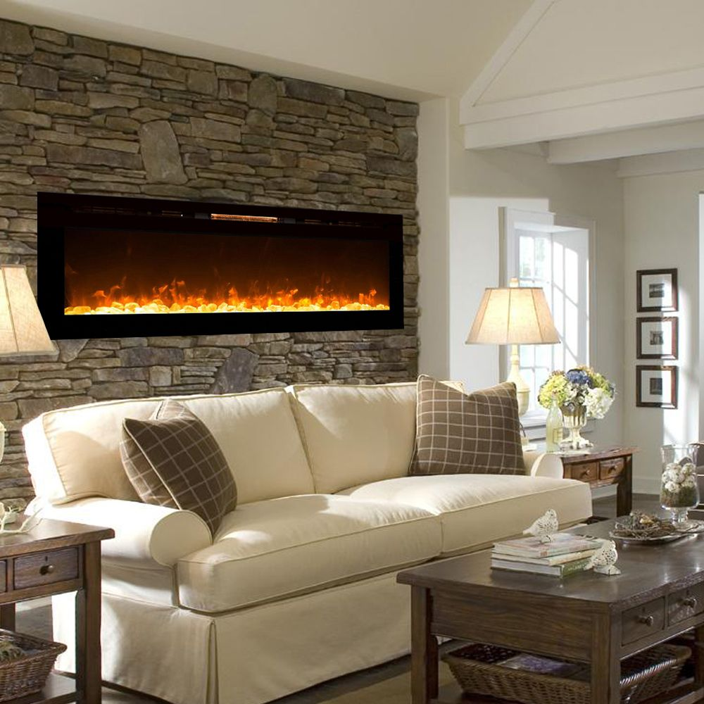 Electric fireplaces and Wall…