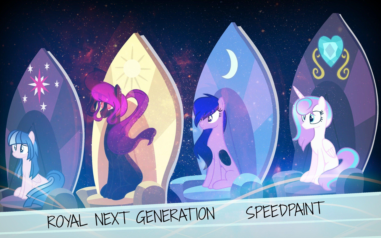 MLP ROYAL NEXT GENERATION|SPEEDPAINT (BASE) | awesomeness