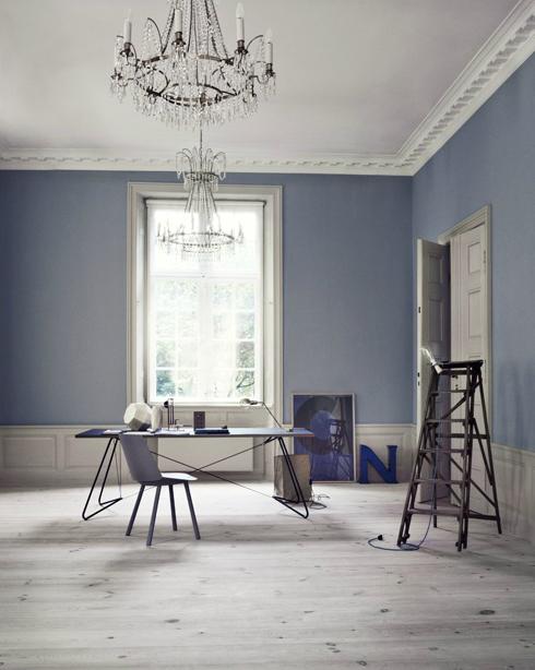 I love this shade of blue photo by heidi lerkenfeldt for Pareti grigie soggiorno