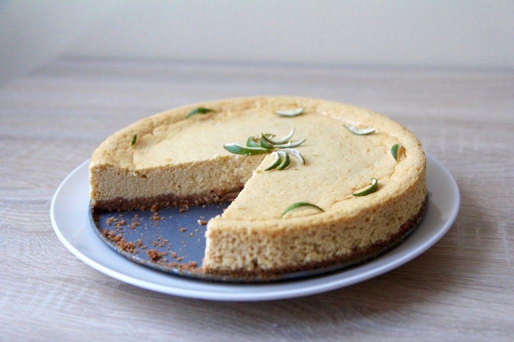 Limetkový cheesecake, recept na blogu. A taky povídání, jak sem nenašla tradiční recept :)
