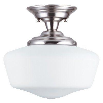 sea gull lighting academy 1 light medium semi flush mount 13w in rh pinterest it