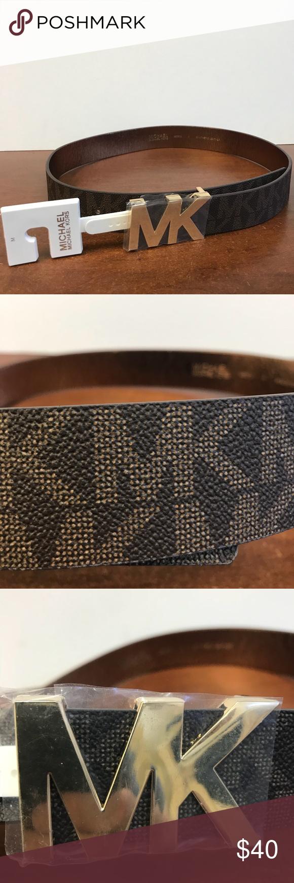 13bfdb0a0098 NWT Michael Kors MK Logo Belt. Women s Medium. NWT Michael Kors MK Logo  Synthetic Materials Belt. Women s Medium. MK 553376C Michael Kors  Accessories Belts
