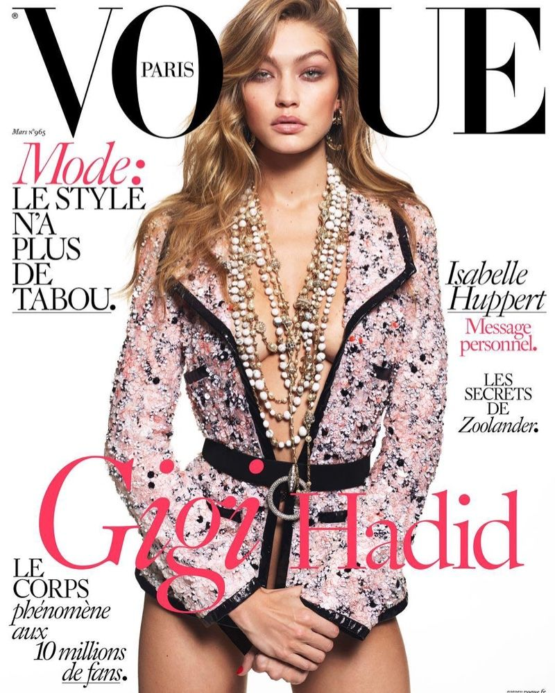 2ca359a065f8 Gigi Hadid by Mert   Marcus for Vogue Paris March 2016 covers - Chanel  Pre-Fall 2016
