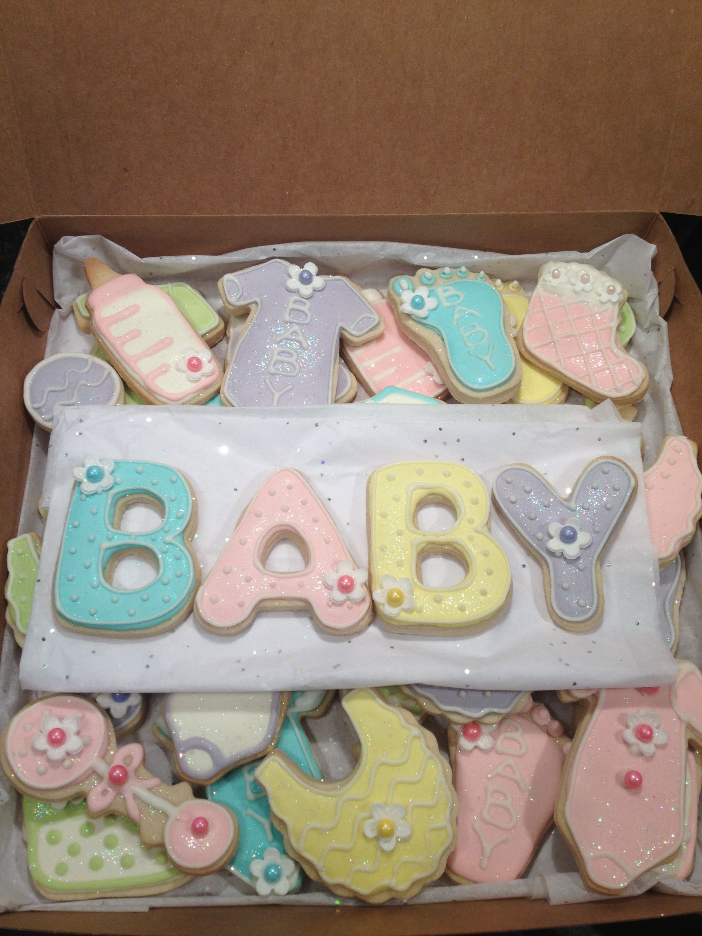 Boy Girl Baby Shower Cookies Ideas Cookies Galletas