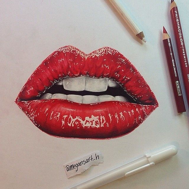 Lips Drawing Colored Pencil Lips Drawing Lip Pencil Colors
