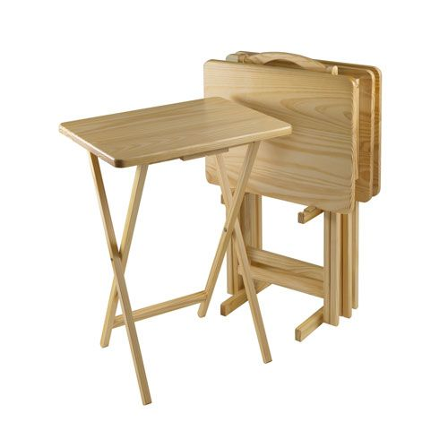 Safavieh Home Furniture Jay Walnut Tray Tables | TVs, Pine and Tv tables