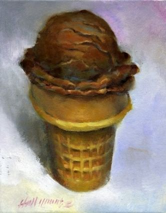 Image result for chocolate ice cream painting