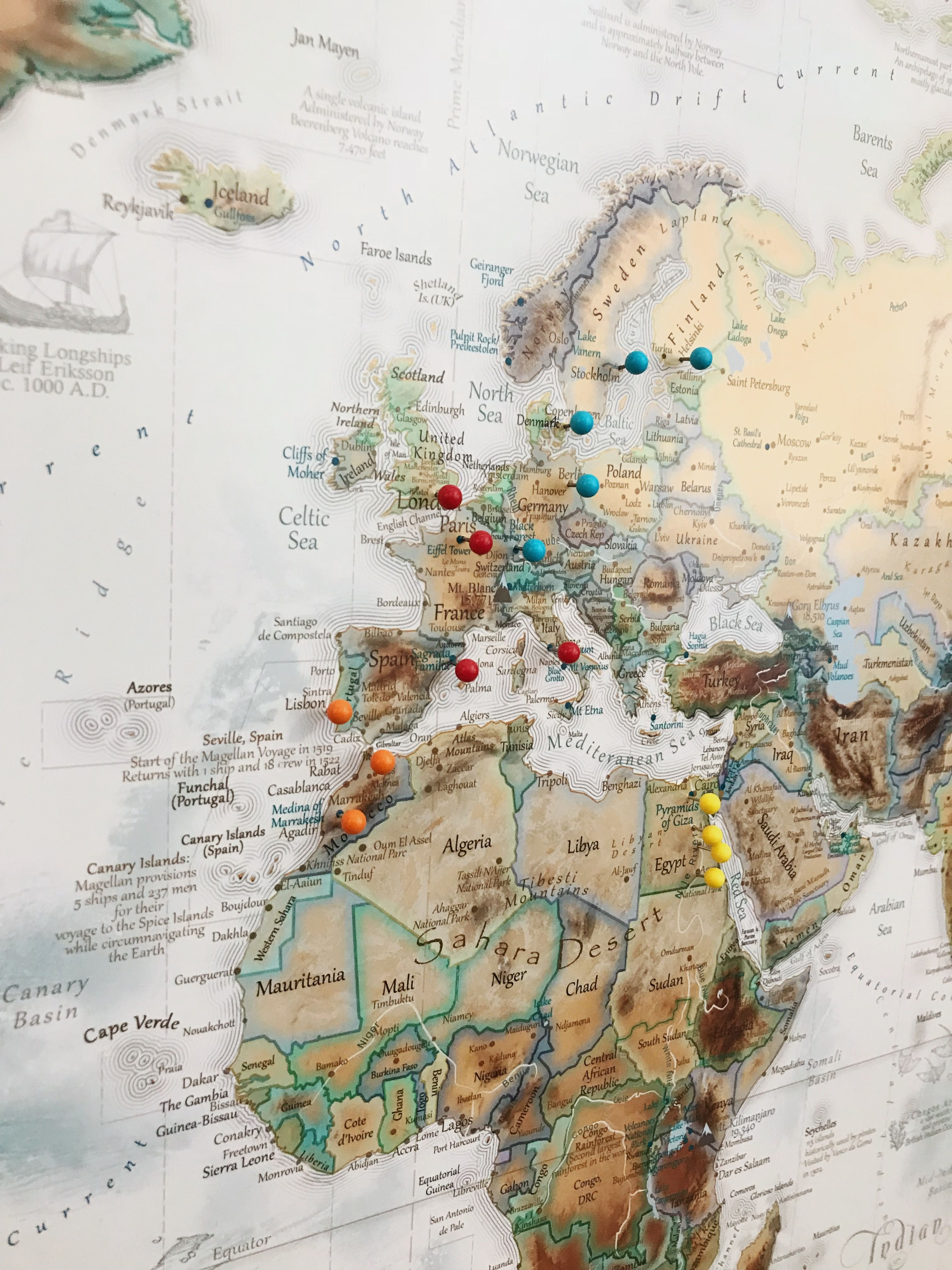 World Map With Push Pins Create your travel story with Push Pin Maps! Custom World Push Pin