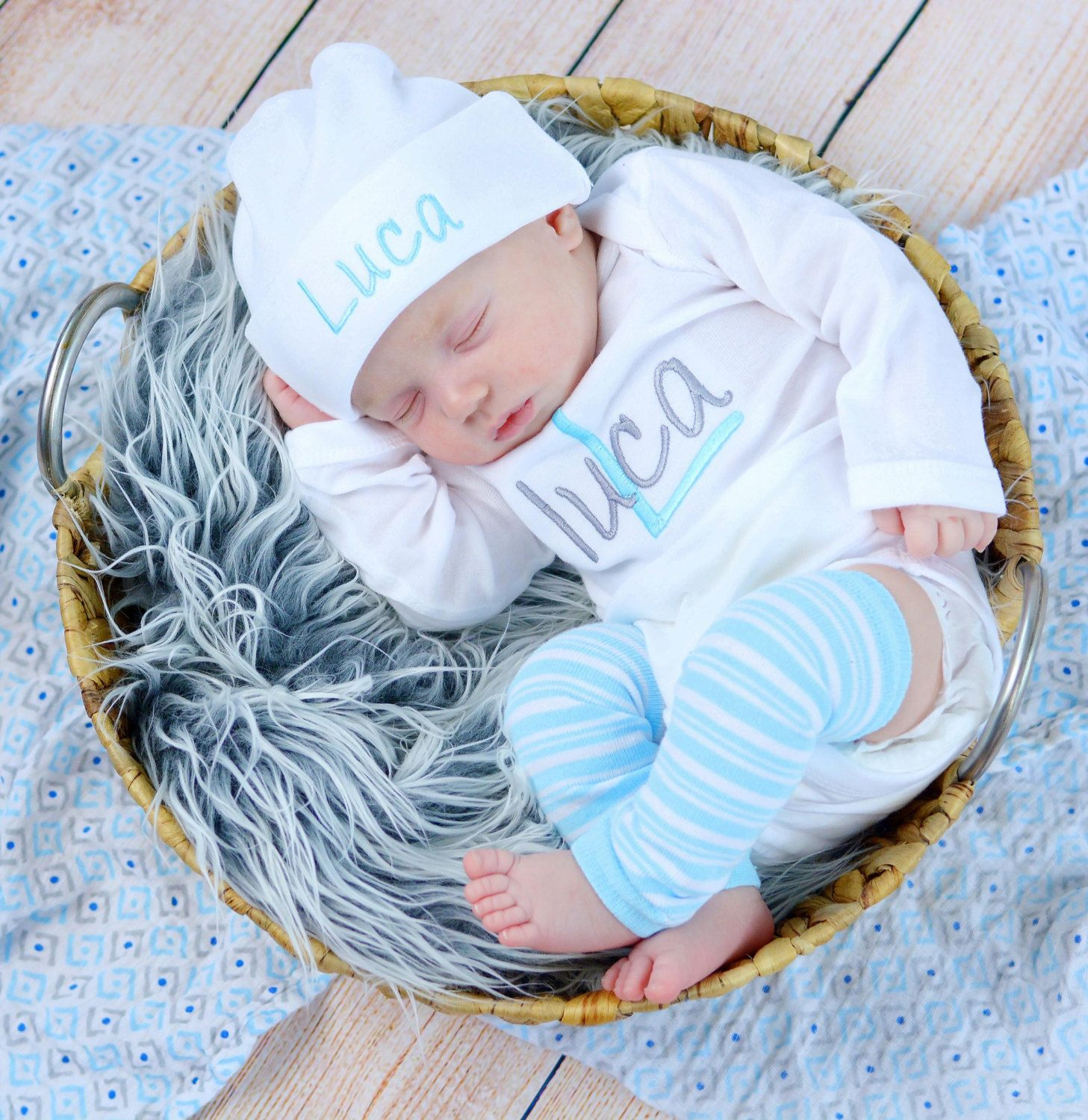 Baby Boy Coming Home Outfit Baby Boy Clothes Bodysuit Hat