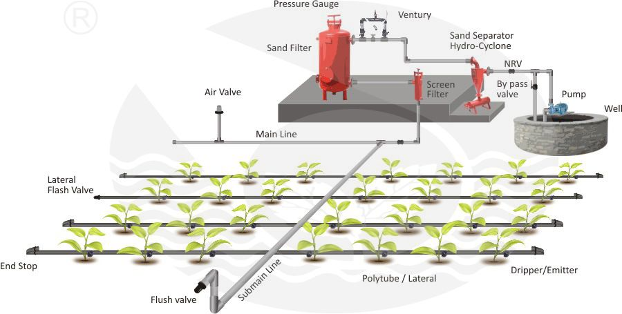 Drip Tulsi Extrusions Ltd Let S Nature The Green Era Drip Irrigation Irrigation Irrigation System
