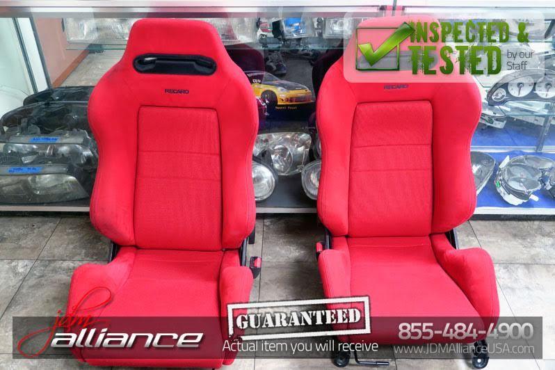 JDM Honda Civic EK9 TypeR Red Recaro Seats Buy interior