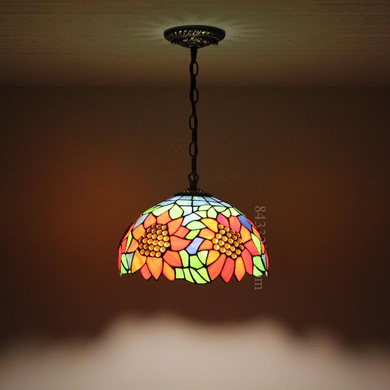 Sunflower Tiffany Lamp 12s2 21p11 Tiffany Lamps Pendant Light
