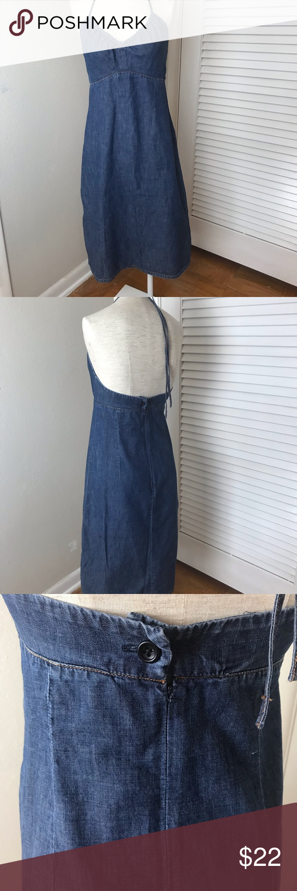 3ada04787e Gap Denim halter dress Gap Denim halter dress. This adorable dress perfect  for the summer