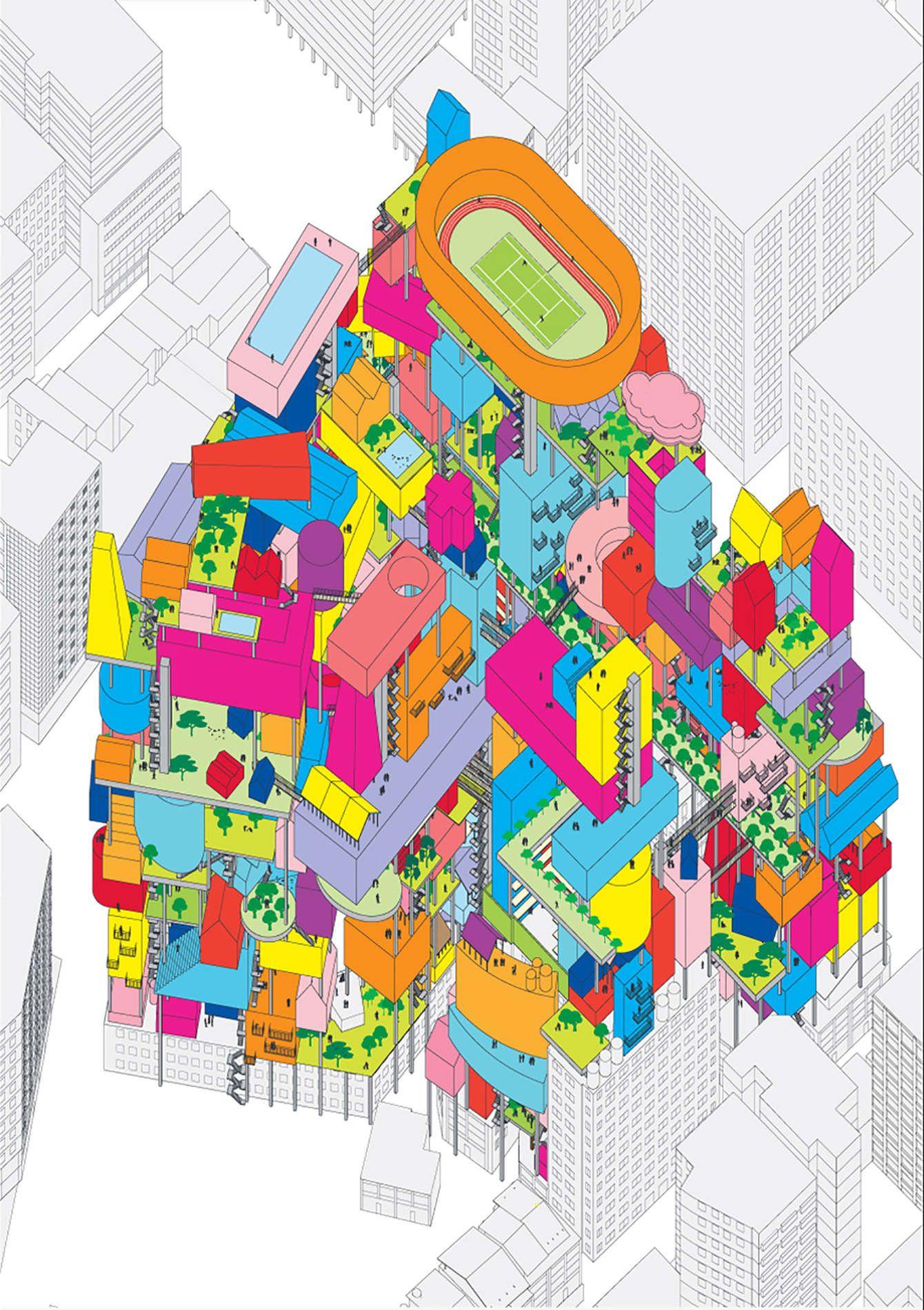 MVRDV - Vertical Village - Google 搜索 | elements for thesis