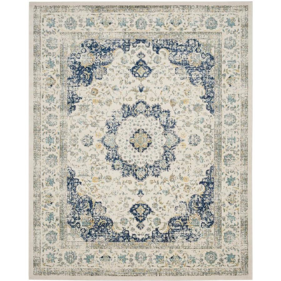 Safavieh evoke savoy ivoryblue indoor oriental area rug common