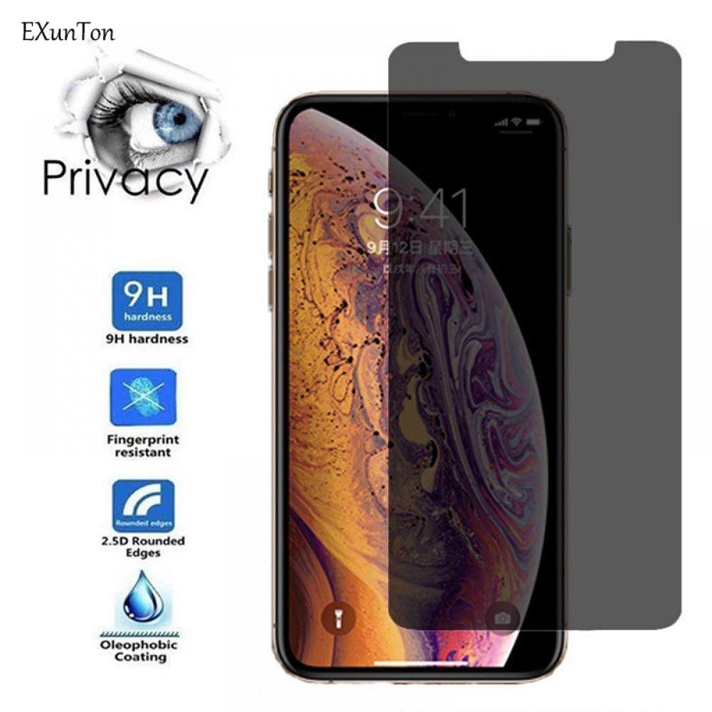 Exunton 25d anti spy privacy tempered glass screen