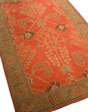 Poeme Rust Chamberey Rug, 8'x11' - traditional - Area Rugs - Indeed Decor