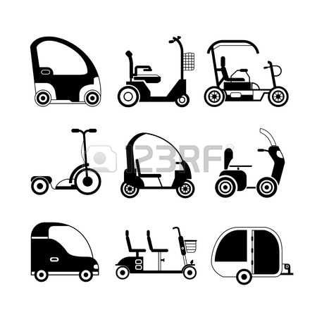 mobility scooter: electric scooter mobility scooter icons