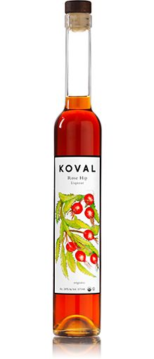 KOVAL Rose Hip Liqueur.  Can be used in the place of vermouth for a contemporary twist on a classic cocktail.  Also mixes well with gin, whiskey, tea, and champagne.