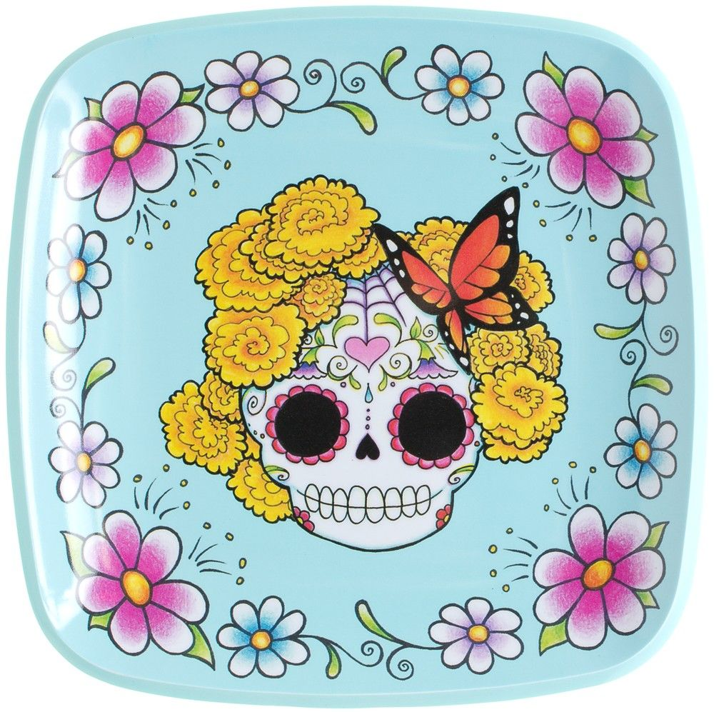 SUGAR SKULL LADY PLATE It doesn\'t get any sweeter than the Sugar ...