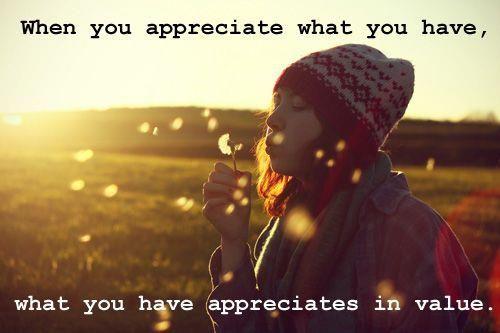 Appreciate what you have and value  www.LoneStarRestaurantSupply.com