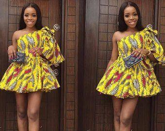 African Print Midi Dress- Off Shoulder Dress - Ankara - Ankara Print - African Dress - Handmade - Af #nigeriandressstyles