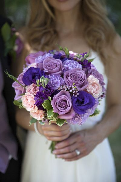 Denise and Scott | Purple wedding flowers | Pinterest | Wedding ...