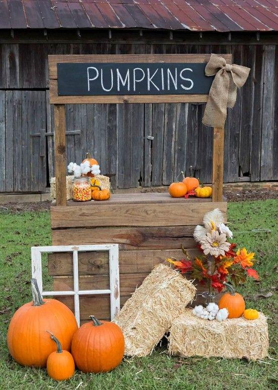 GoEoo 9x6ft Pumpkin Halloween Party Back Drop Autumn Harvest Pumpkins Photo Booth Backdrop Farm Tools Wheel Barn Farmhouse Interior Photography Background Photo Studio Props