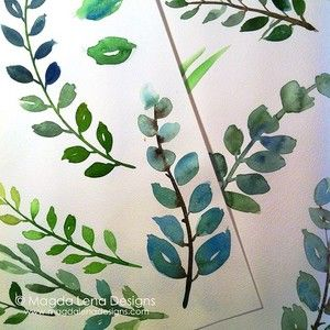#day25 One quarter of my #the100daysofwatercolors is already behind me. With each practice I am having more and more fun using this medium. Today I was very prolific with painting leaves following @yaochengdesign course on Craetive Bug. I can really recommend this class!