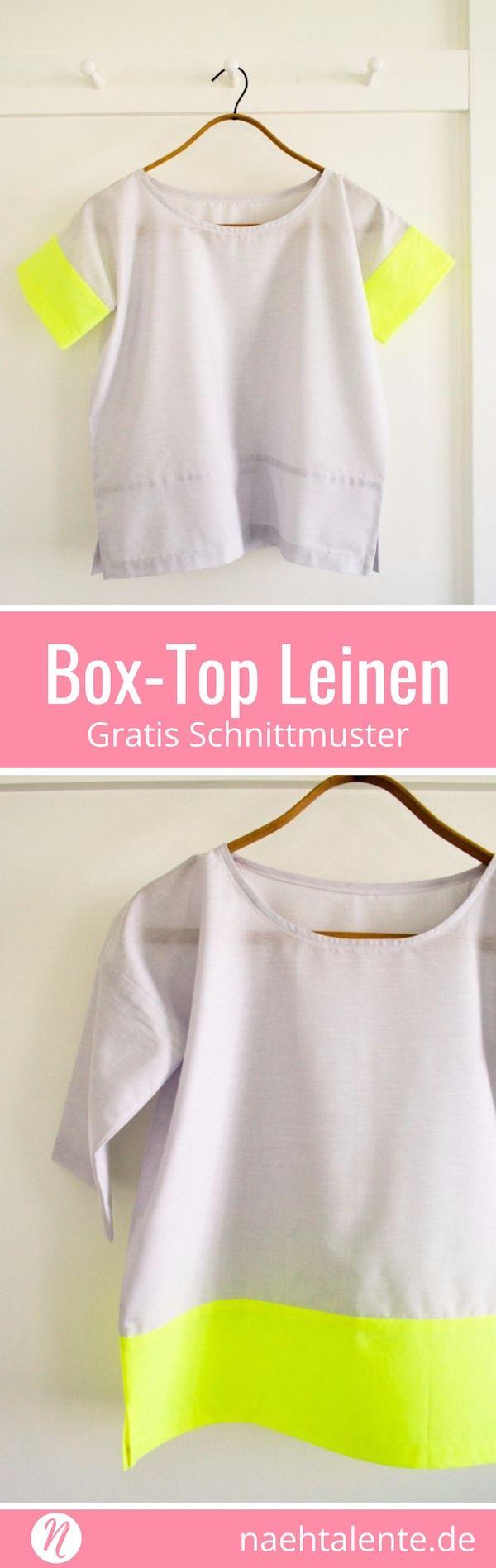 Einfaches Box Top für Damen - Leinenoberteil selber nähen | Nähtalente