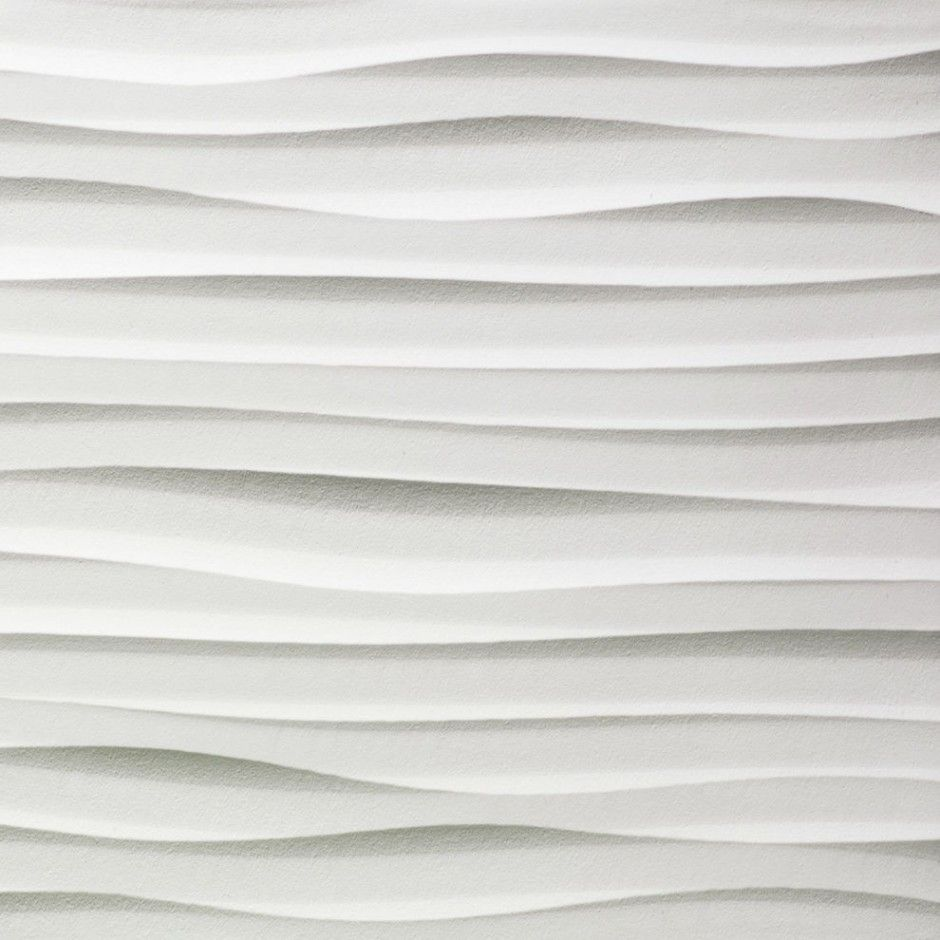 Sand Dune Inspired Decorative Wall Panel Featuring Wavy Surfaces Tile And Gray White Textured Surface Feature Tiles