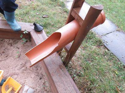Photo of Sandrutsche aus PVC Rohr