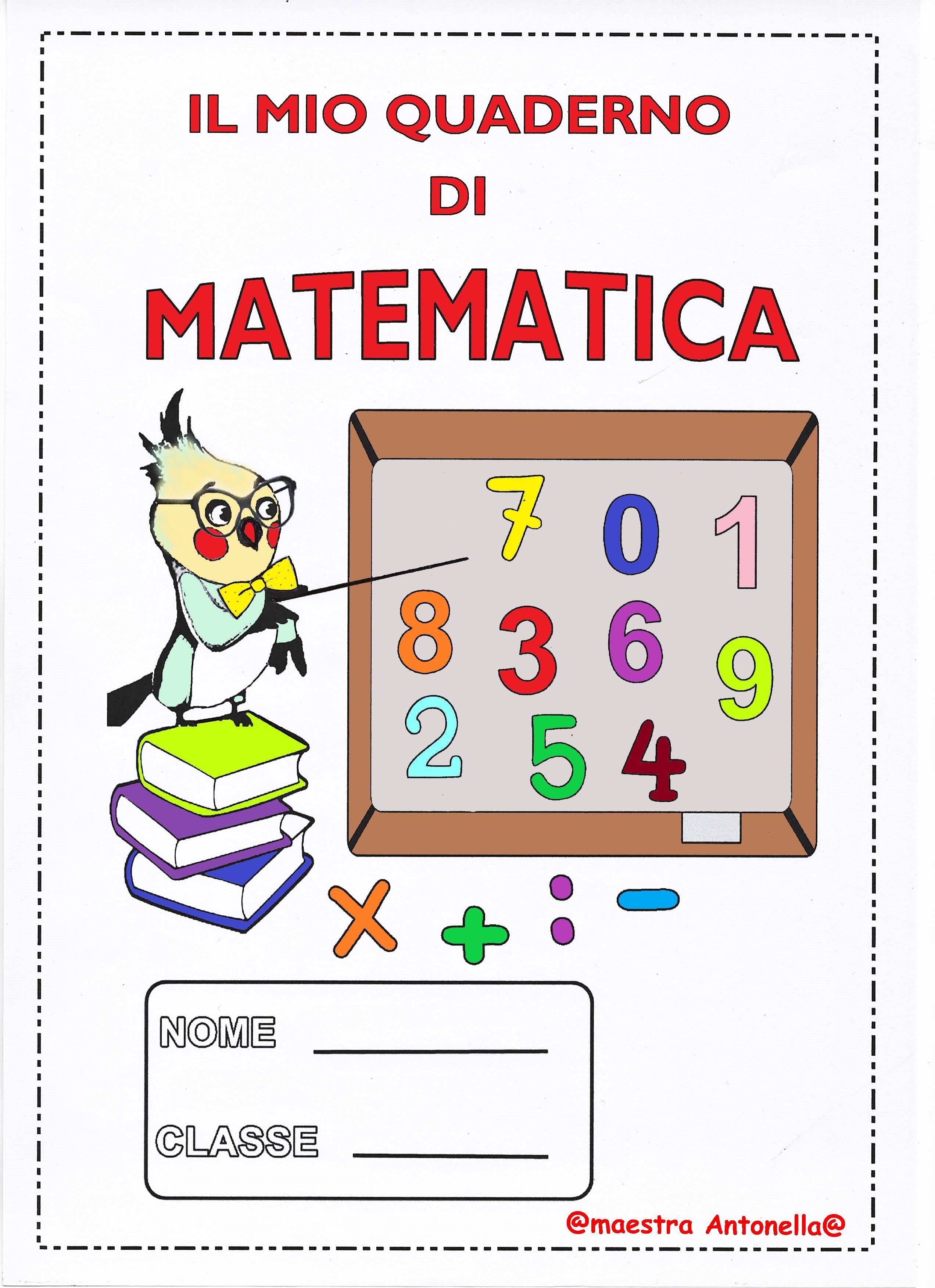 Copertina Quaderno Di Matematica Copertine Per Quaderni