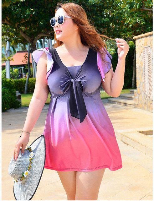 c376c5d86f Swimming Suit for Women Swimsuit Plus Size Swimwear Dress Female ...