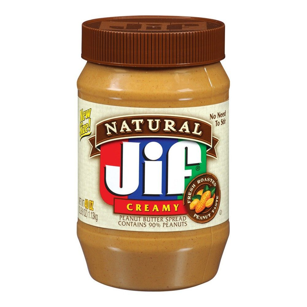 Jif® Natural Creamy Peanut Butter - 40oz