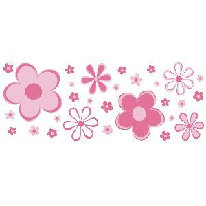 Pink floral borders pink fun flower border wall transfer stickers pink floral borders pink fun flower border wall transfer stickers the frog and the mightylinksfo