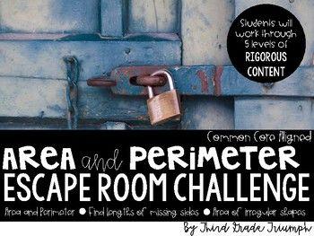 Escape Room - Area and Perimeter | Escape room challenge ...