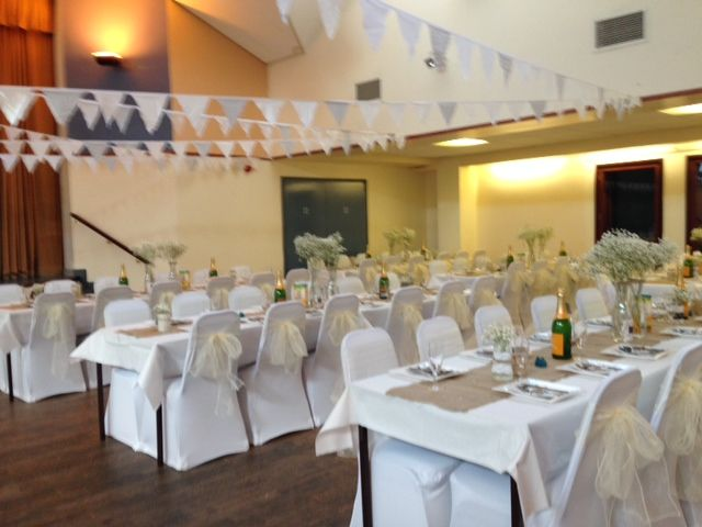 Chair Covers Hire In Wolverhampton Wedding Middlesbrough White With Ivory Sashes Featherstone Community Centre