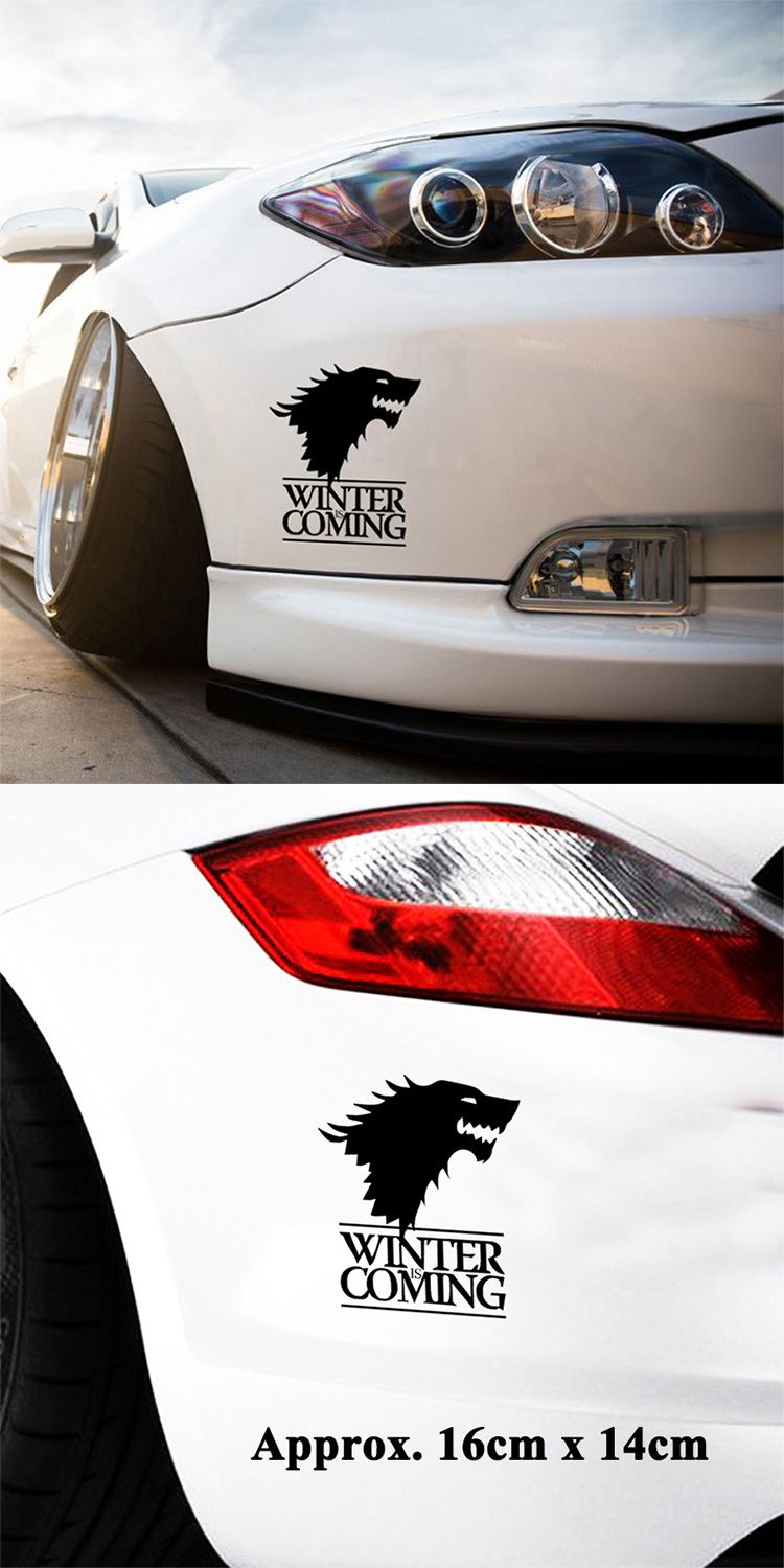 Winter Is Coming Wolf Game Of Thrones Car Sticker Decorative Head Of Wolf Car Reflective Window Stickers Vinyl Cool Car Stickers Car Window Stickers Window Stickers [ 1500 x 750 Pixel ]