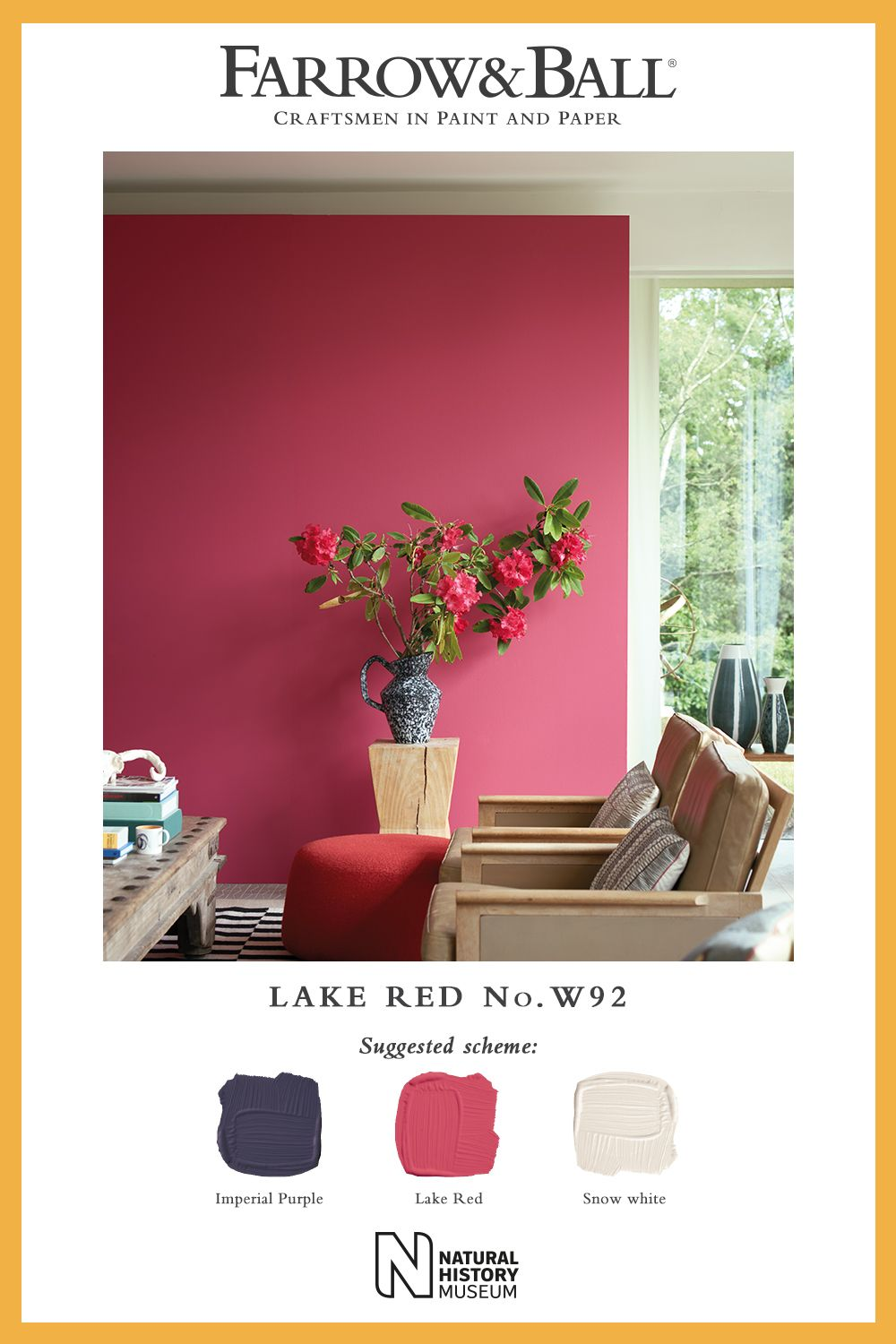 Farrow And Ball Bordeaux our vital and happy lake red looks wonderful when paired