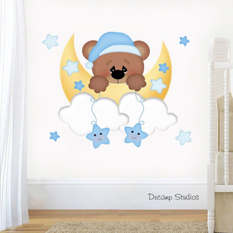 Teddy Bear Nursery Decal Baby Boy Wall