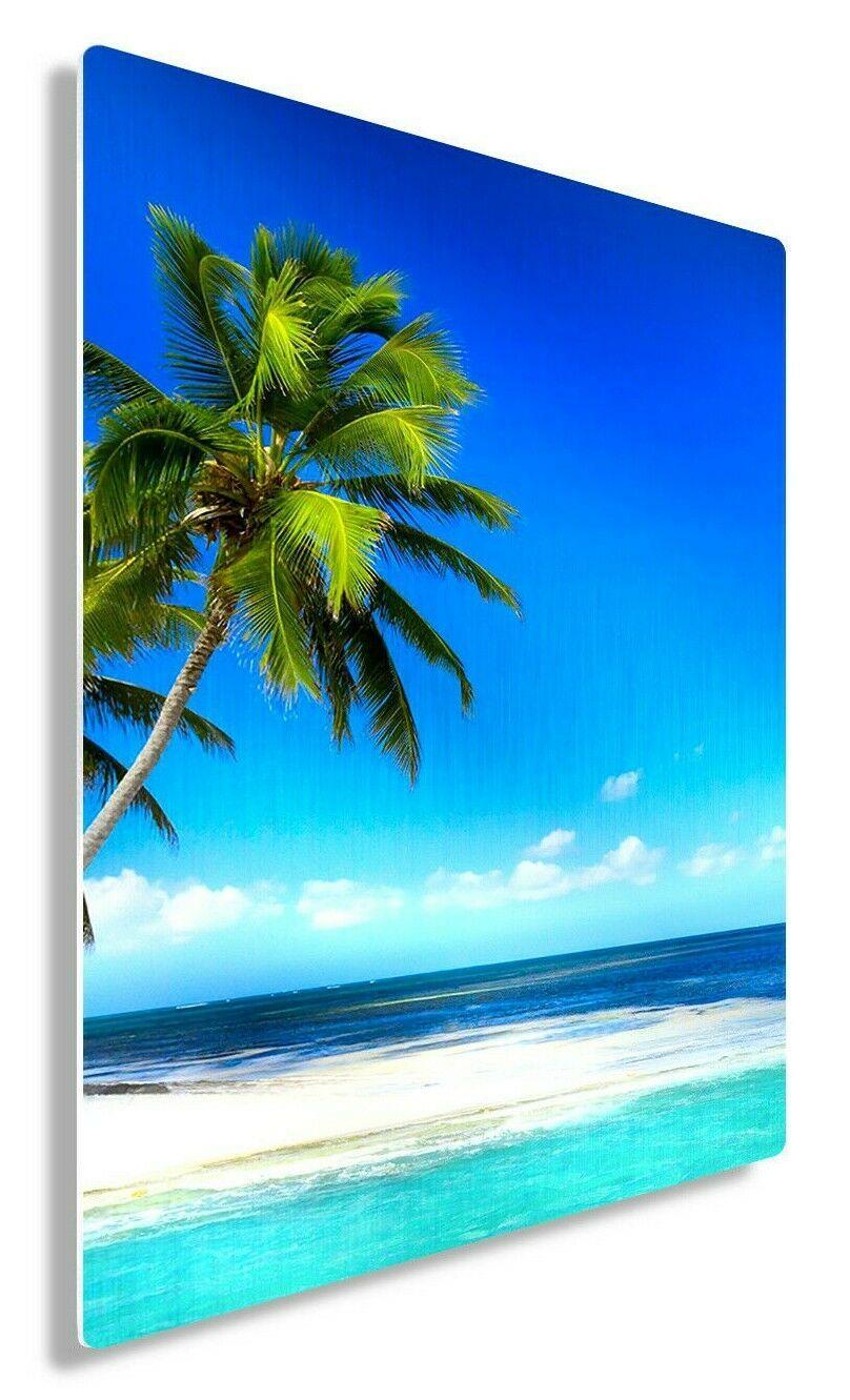 Details About Beach Metal Wall Art Blue Ocean Home Decor Prints